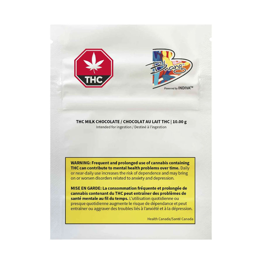 Image for THC Milk Chocolate Bar, cannabis product by Bhang