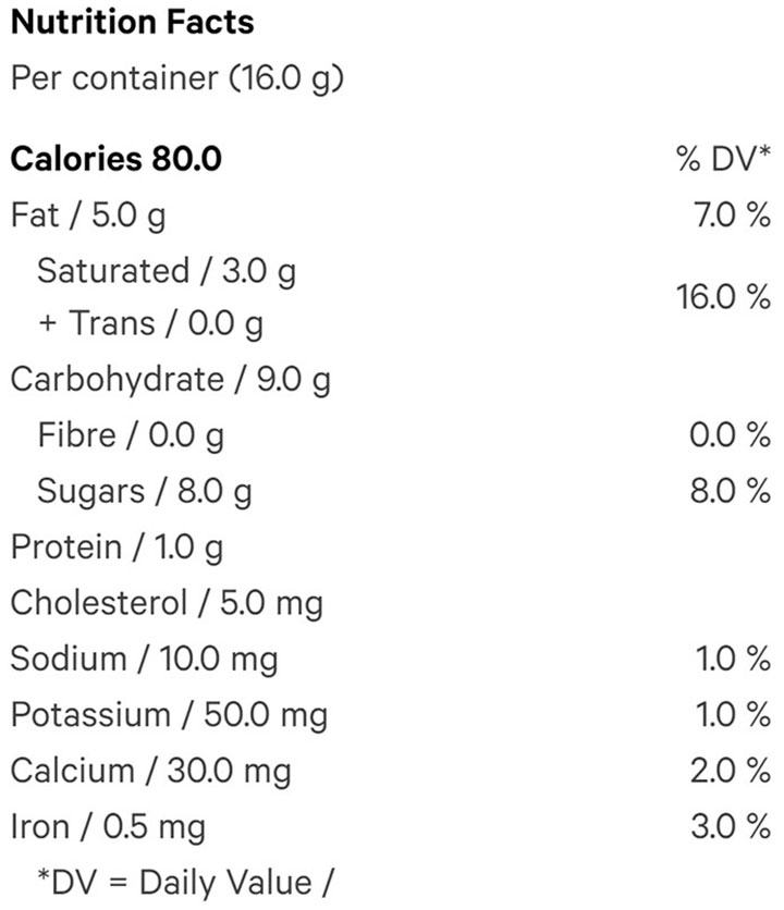 Nutrition Information for Balance Solid Milk Chocolate (Chocolates) by Chowie Wowie