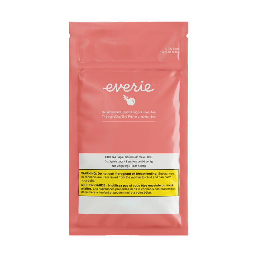 Decaffeinated Peach Ginger Green Tea (Beverages) by Everie