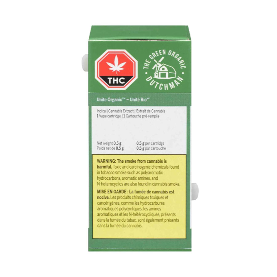 Image for Unite Organic 510 Thread Cartridge, cannabis product by The Green Organic Dutchman