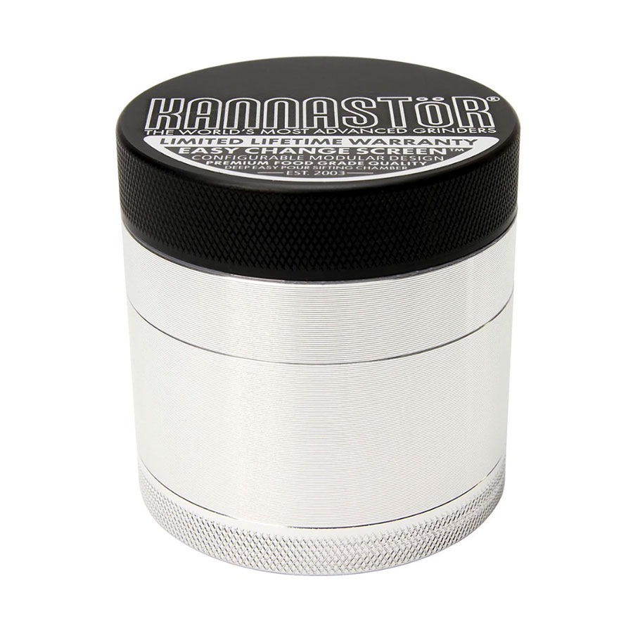 Image for Clear Top & Solid Body Grinder 4-pc /w Screen, cannabis product by Kannastor