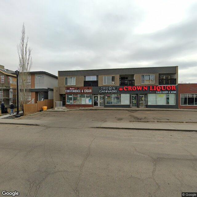 Street view for Crown Cannabis, 9533 76 Ave. NW, Edmonton AB