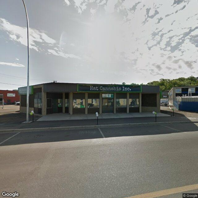 Street view for Hat Cannabis Inc.  646 South Railway St. SE, Medicine Hat AB