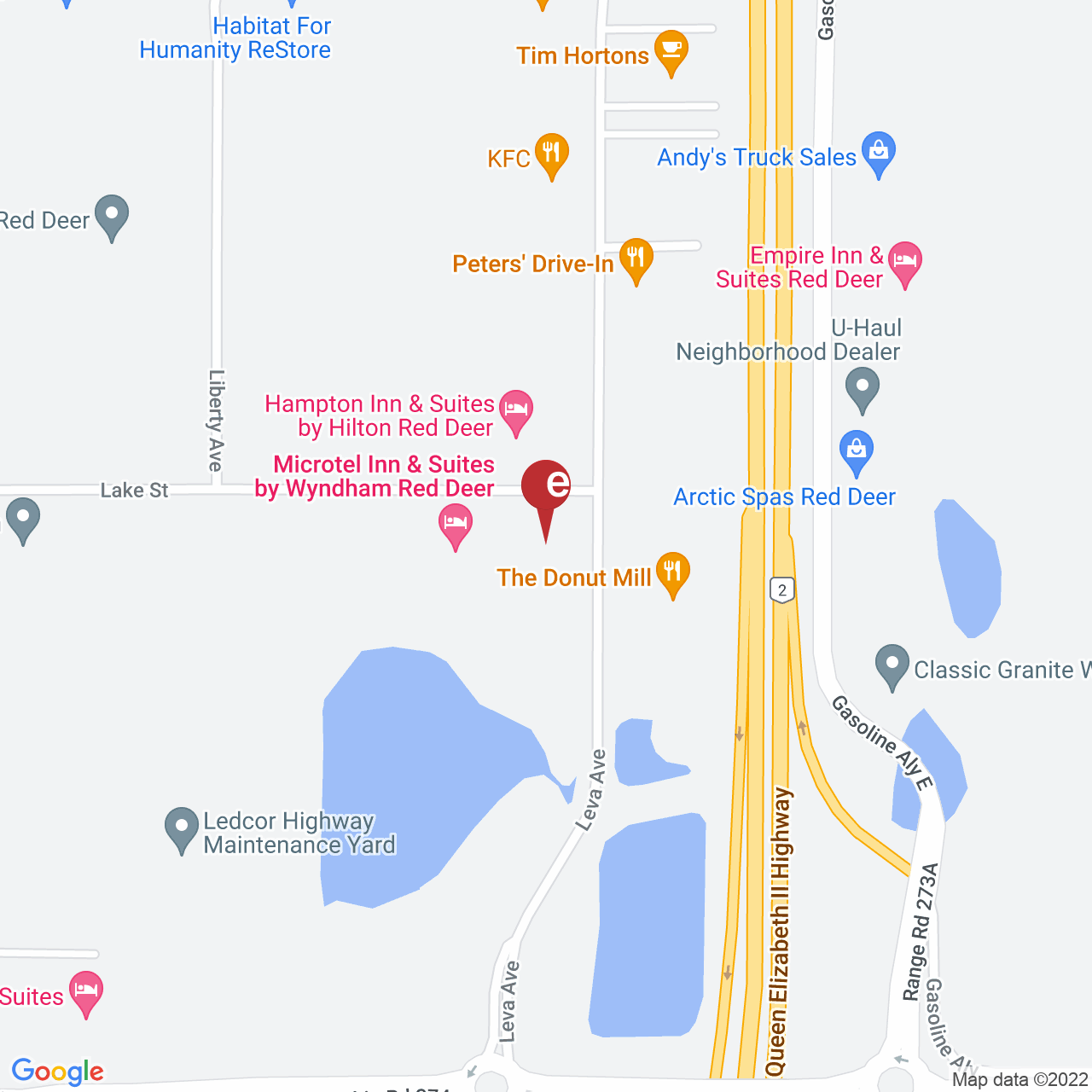 Street map for INDICAtive Collection, 124 Leva Ave., Red Deer County AB