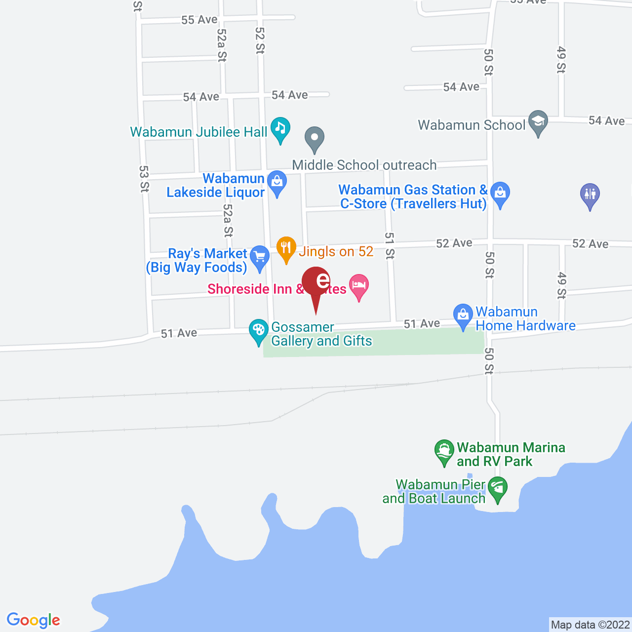 Street map for Mary Jane on Penny Lane, 5126 51 Ave., Wabamun AB
