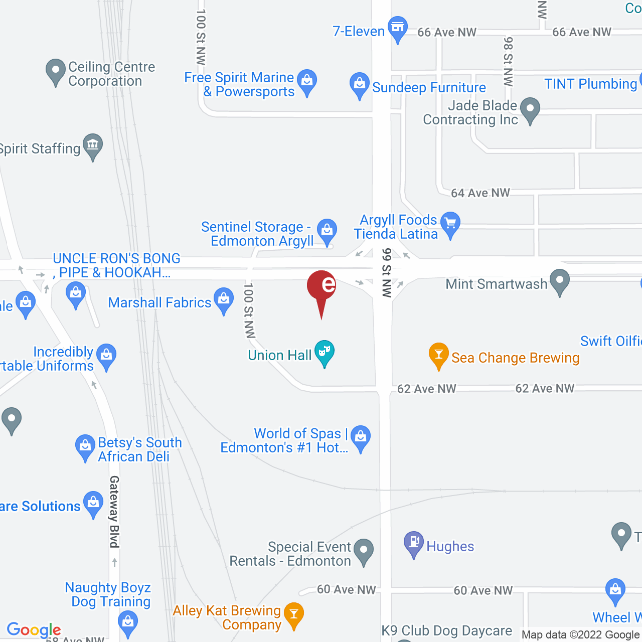 Street map for Spiritleaf Argyll Plaza, 9941 63 Ave. NW, Edmonton AB