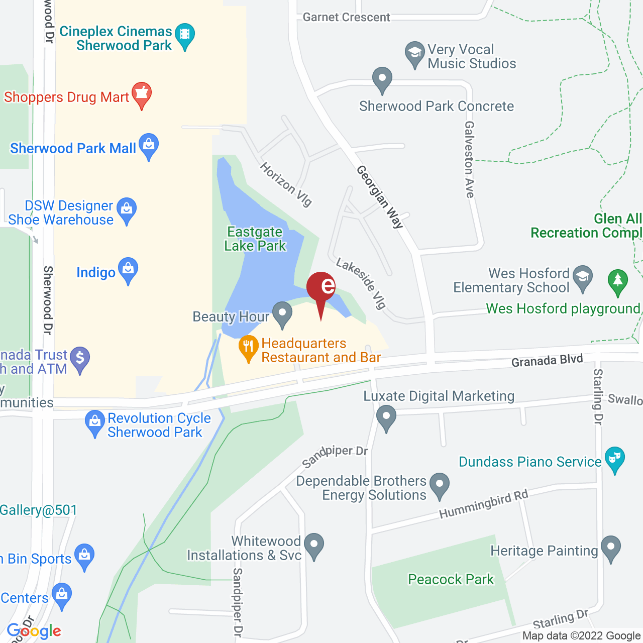 Street map for Uncle Sam's Cannabis, 301-101 Granada Blvd., Sherwood Park AB