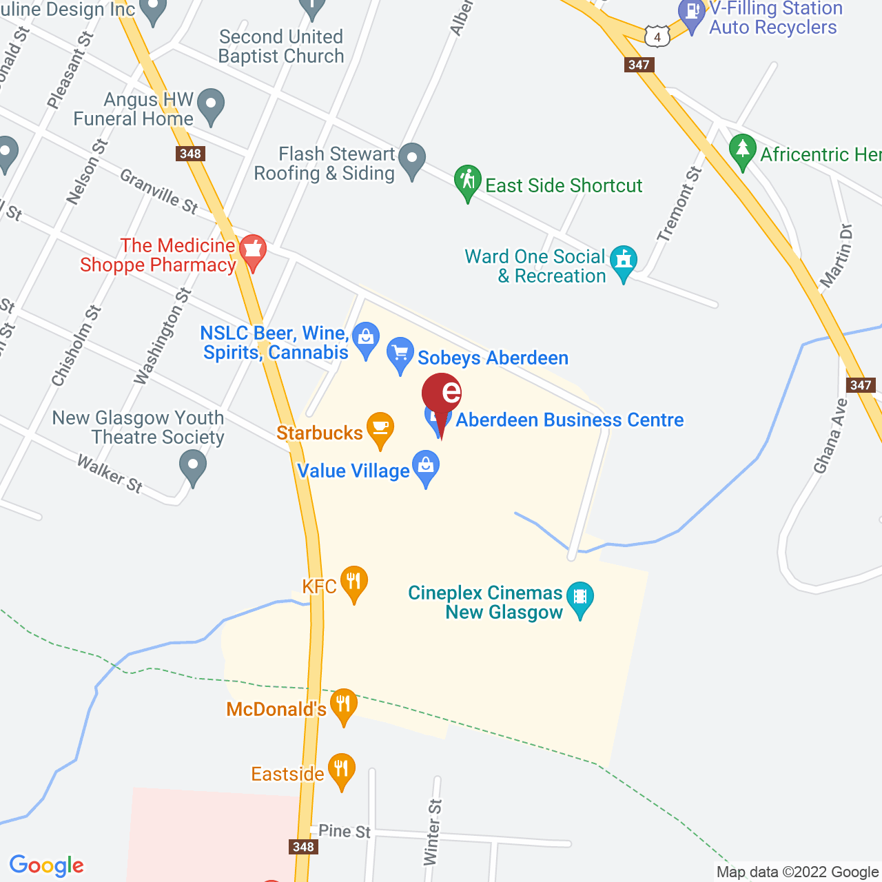 Street map for NSLC Cannabis New Glasgow, 610 East River Rd., New Glasgow NS