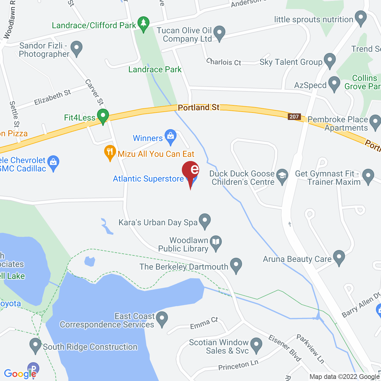 Street map for NSLC Cannabis Portland St. 650 Portland St., Dartmouth NS