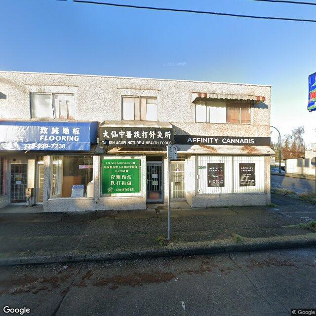 Street view for Affinity Cannabis Store, 5403 Victoria Dr., Vancouver BC